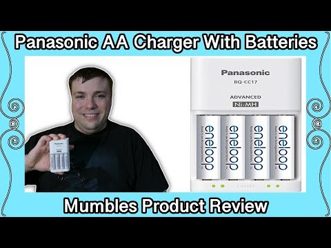 Panasonic Eneloop AA Rechargeable Batteries and Charger K-KJ17MCA4BA - MumblesVideos Product Review