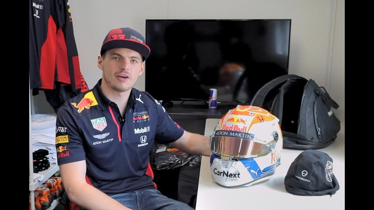 Max Verstappen onthult zijn speciale 2020 #StyrianGP #AustrianGP #Jumbo helm