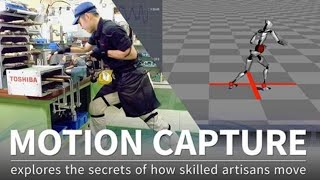 【TOSHIBA】Using motion capture to explore the secrets of how skilled artisans move