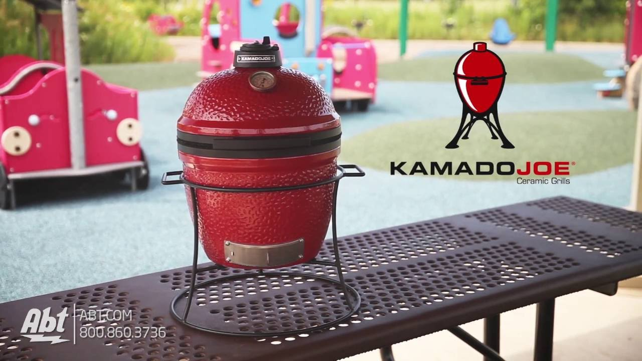 Kamado Joe 13 5 Joe Jr  Red Ceramic Grill KJ13RH - Overview