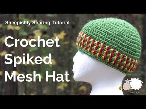 c6c254fbfba How to Crochet a Spiked Mesh Stitch Hat - YouTube