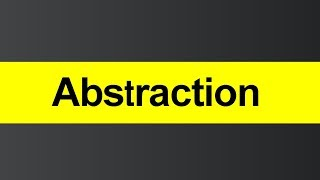 What is Abstraction (Hindi)