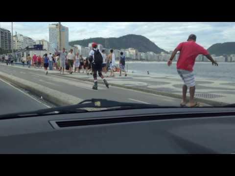 A long drive down the beach in Rio de Janeiro, Brazil...