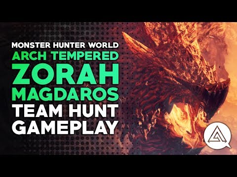Monster Hunter World | Arch Tempered Zorah Magdaros Full Hunt Gameplay