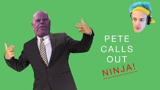 VoiceoverPete calls out Ninja!!!