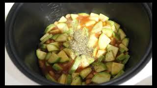 готовлю тушенный кабачок с фасолью//полезные рецепты //