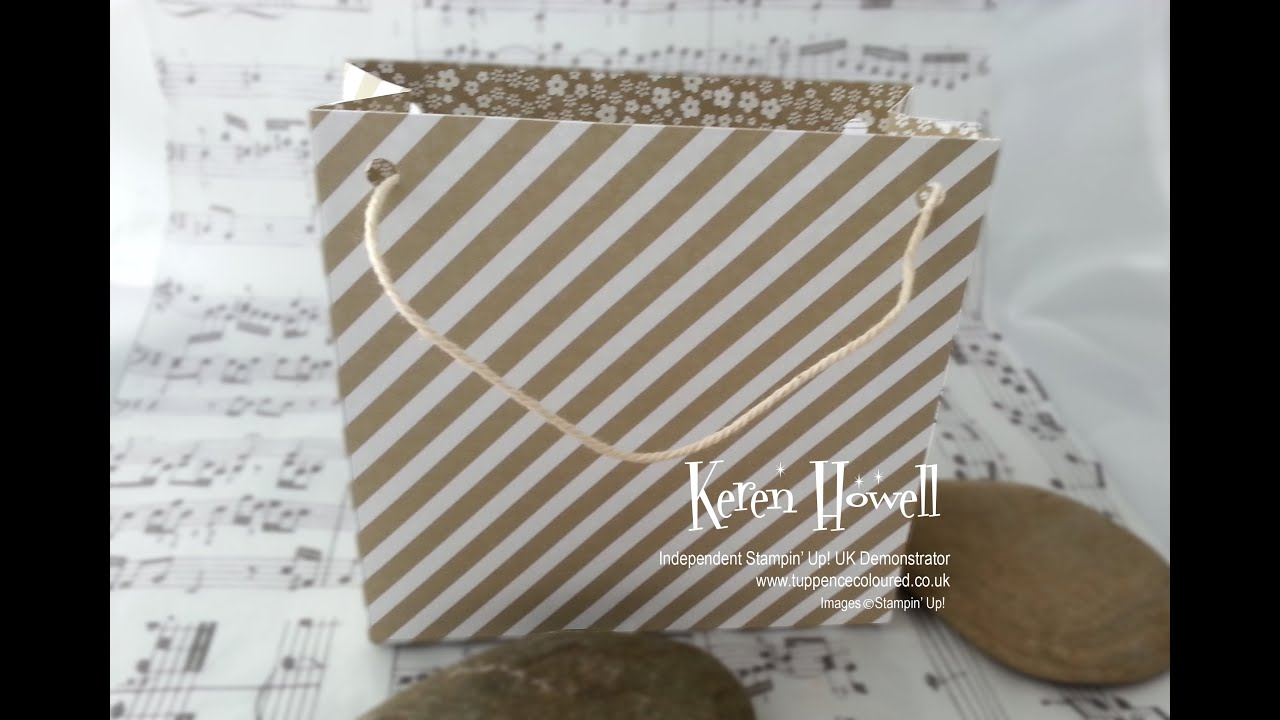 Gift bag Punch Board - making an extra-large gift bag - YouTube