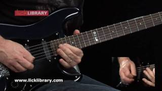 Too Hot To Handle - Guitar Solo - Slow & Close Up - www.licklibrary.com