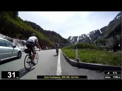 Indoor Cycling Training: Furkapass / Suisse (now in full length: https://youtu.be/hay0B_M44ik)