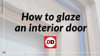 How to glaze an interior door