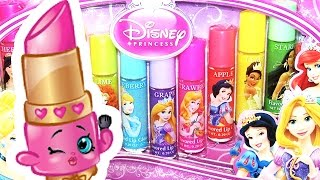 Lippy Lips Shopkin Taste-Tests 10 Disney Princess Lip Glosses! Funny Shopkins Video