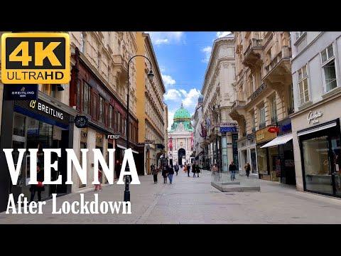 VIENNA After LOCKDOWN  - Walking in  Vienna City Center 4K UHD