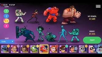 Disney Battle Heroes: Server 2 Coliseum Attack with team Plan