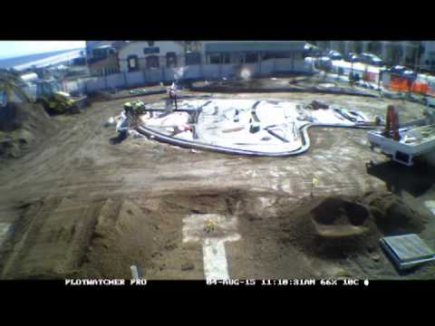 Time lapse of water feature construction