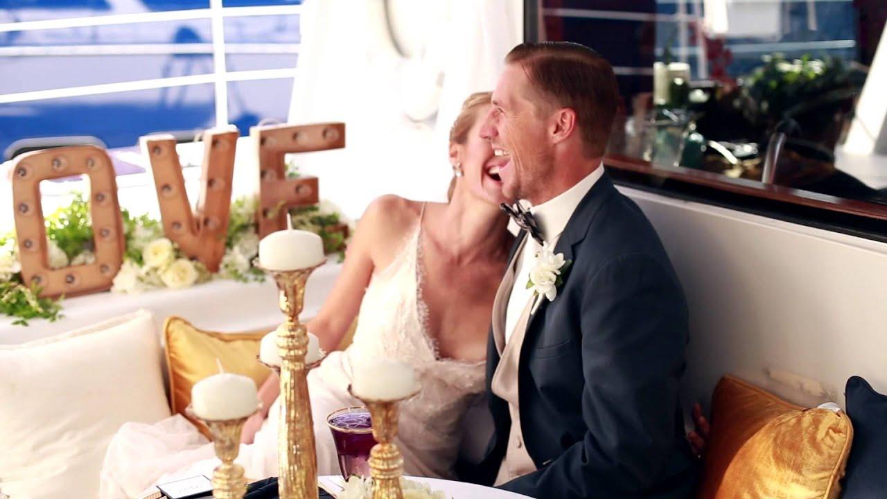 Yacht Wedding: Adventuress Luxury Catamaran - YouTube