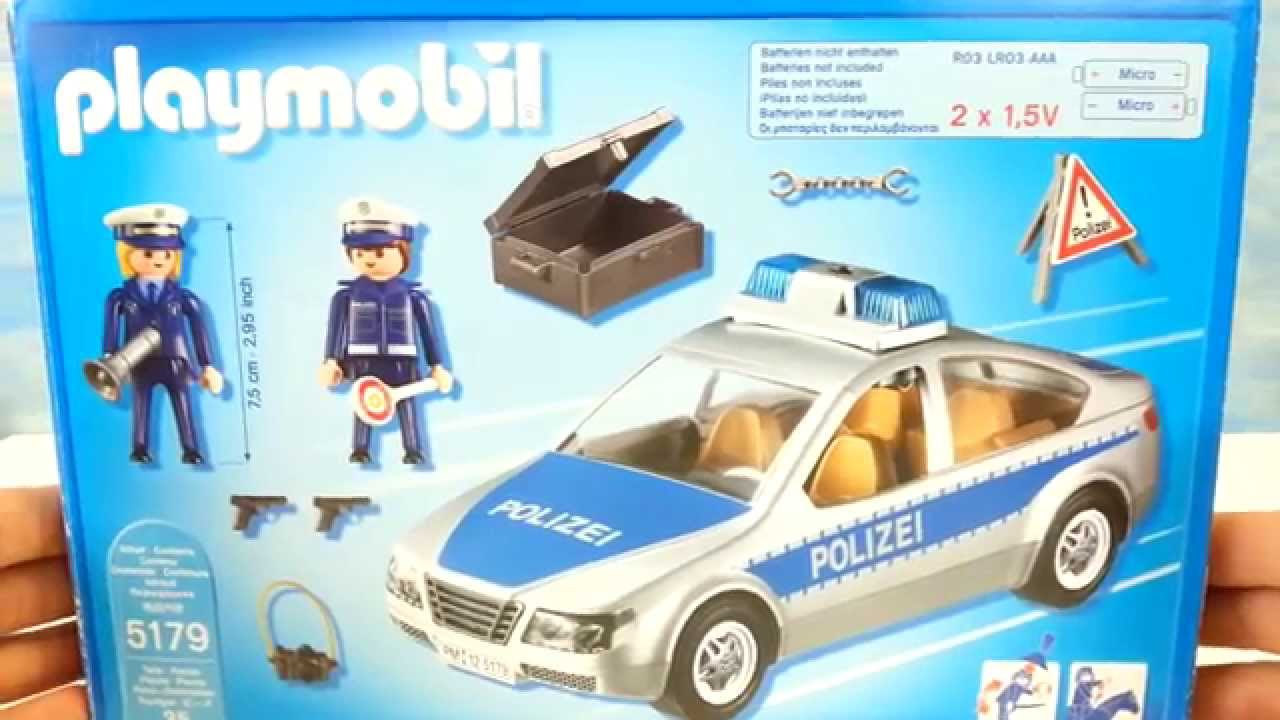 playmobil polizeiauto mit blaulicht 5179 seratus1. Black Bedroom Furniture Sets. Home Design Ideas