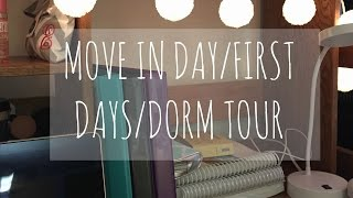 college move in dorm tour first couple days