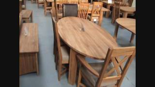 Round Oval Extending Solid Oak Dining Tables