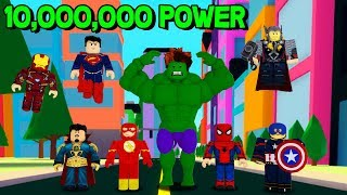 ROBLOX SUPERHERO SIMULATOR! *BECOMING THE STRONGEST SUPERHERO*