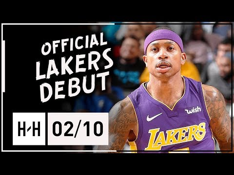 Isaiah Thomas Official Lakers Debut, Full Highlights vs Mavericks (2018.02.10) - 22 Points!