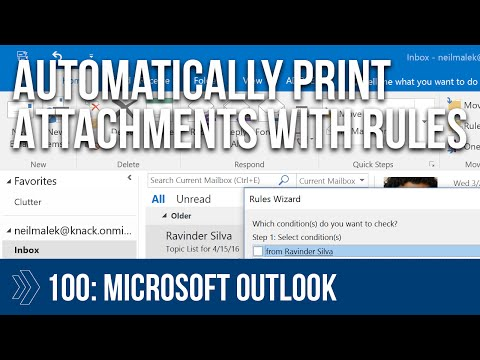 Microsoft Outlook Script - Print Attachments