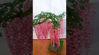 Дерево из бисера )Глициния