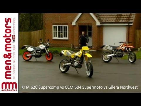 KTM 620 Supercomp vs CCM 604 Supermoto vs Gilera Nordwest