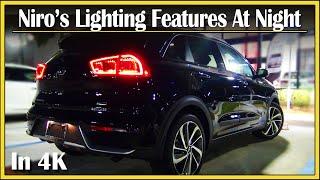 2017 / 2018 Kia Niro Touring Hybrid | DETAILED NightTime Walk Around | Night Review in 4k UHD!