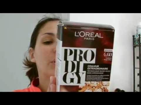 coloration prodigy loral lady marjo youtube - L Oreal Coloration Rouge