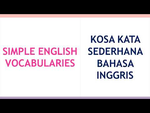 LEARN SIMPLE ENGLISH AND INDONESIAN VOCABULARIES