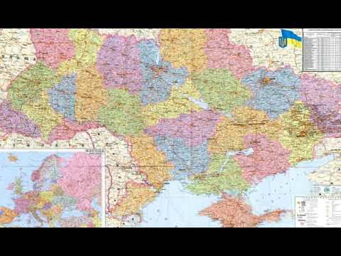 Подробная карта Украины  2019