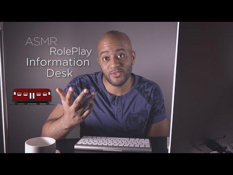 ASMR Role Play | Information Desk | Layered Sounds | Soft Spoken