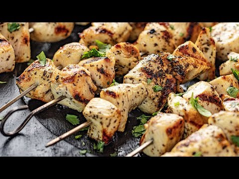 How To Make Grilled Lemon Chicken Kabobs