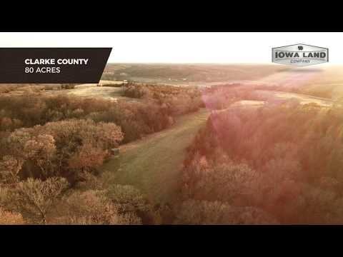 Clarke County, Iowa 80 +/- Acres Turn Key Hunting Property With Cabin For Sale