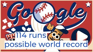 114 Runs On Google Doodles Baseball (personal Best, Possible World Record?)