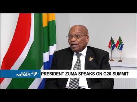 INTERVIEW: President Jacob Zuma speaks on G20 Summit
