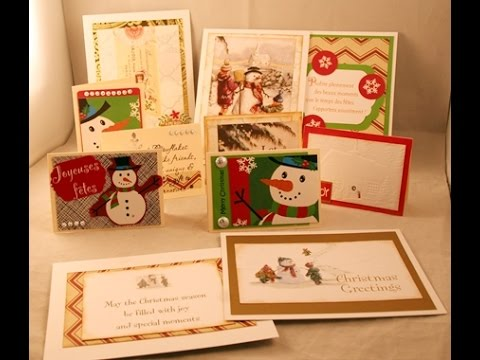 Giving new life to old christmas cards youtube giving new life to old christmas cards m4hsunfo