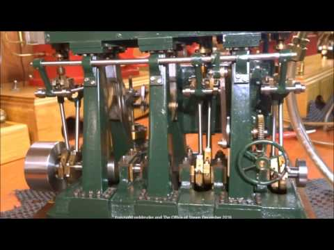 O. B.  Bolton Triple Expansion Model Marine Steam Engine