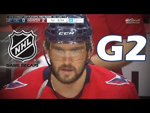 Columbus Blue Jackets vs Washington Capitals. 2018 NHL Playoffs. Round 1. Game 2. 04.15.2018. (HD)