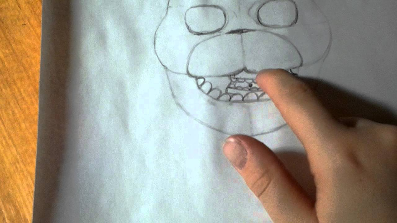 Нарисовать бонни видео