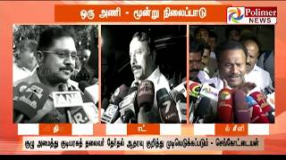 Prez Poll: ADMK Amma Team gives different opinions | Polimer News