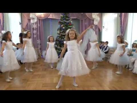 """Утренник """"Новый 2016 год .  Танец  снежинок.  Старшая группа детсада № 160 г. Одесса 2015"""