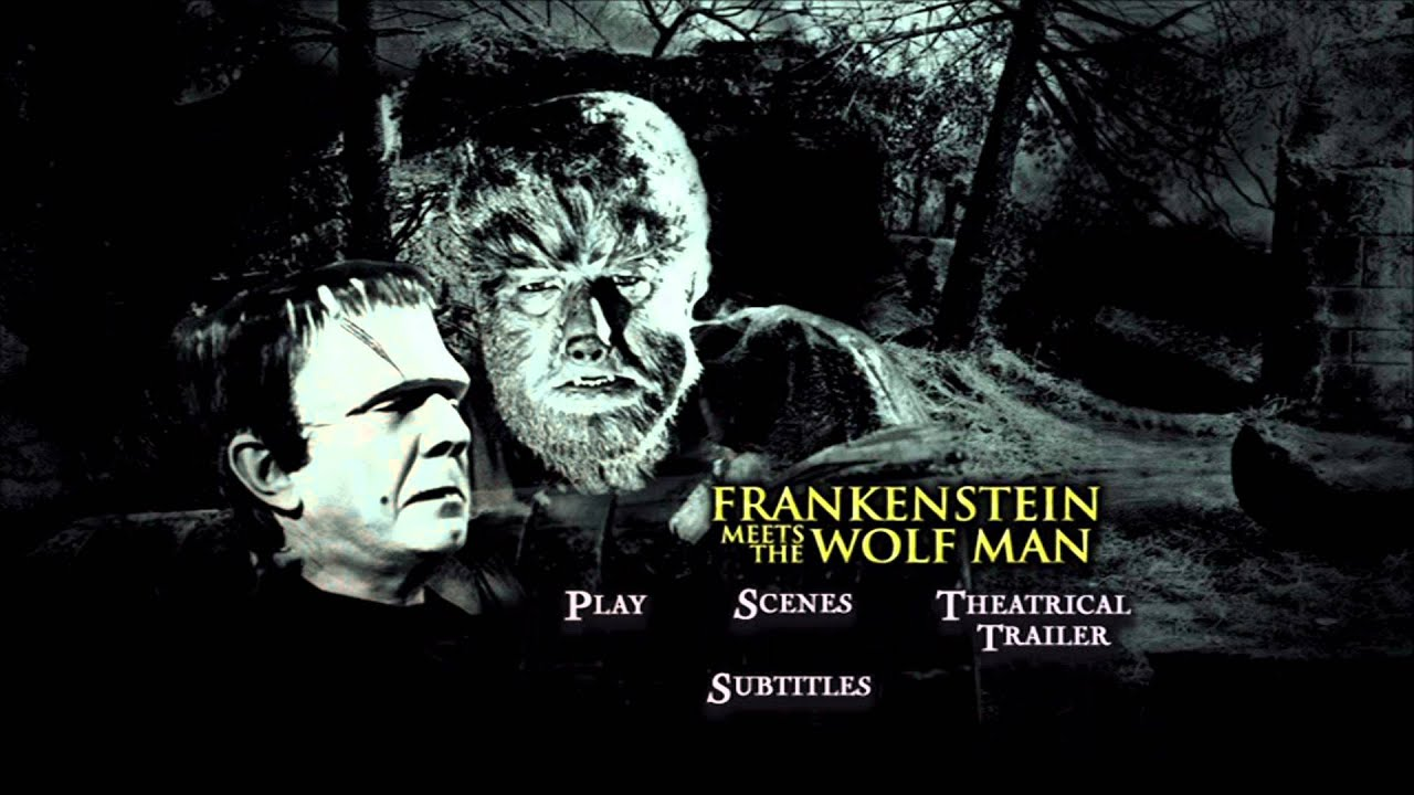 frankenstein meets the wolfman uk dvd menu [region 2] - youtube