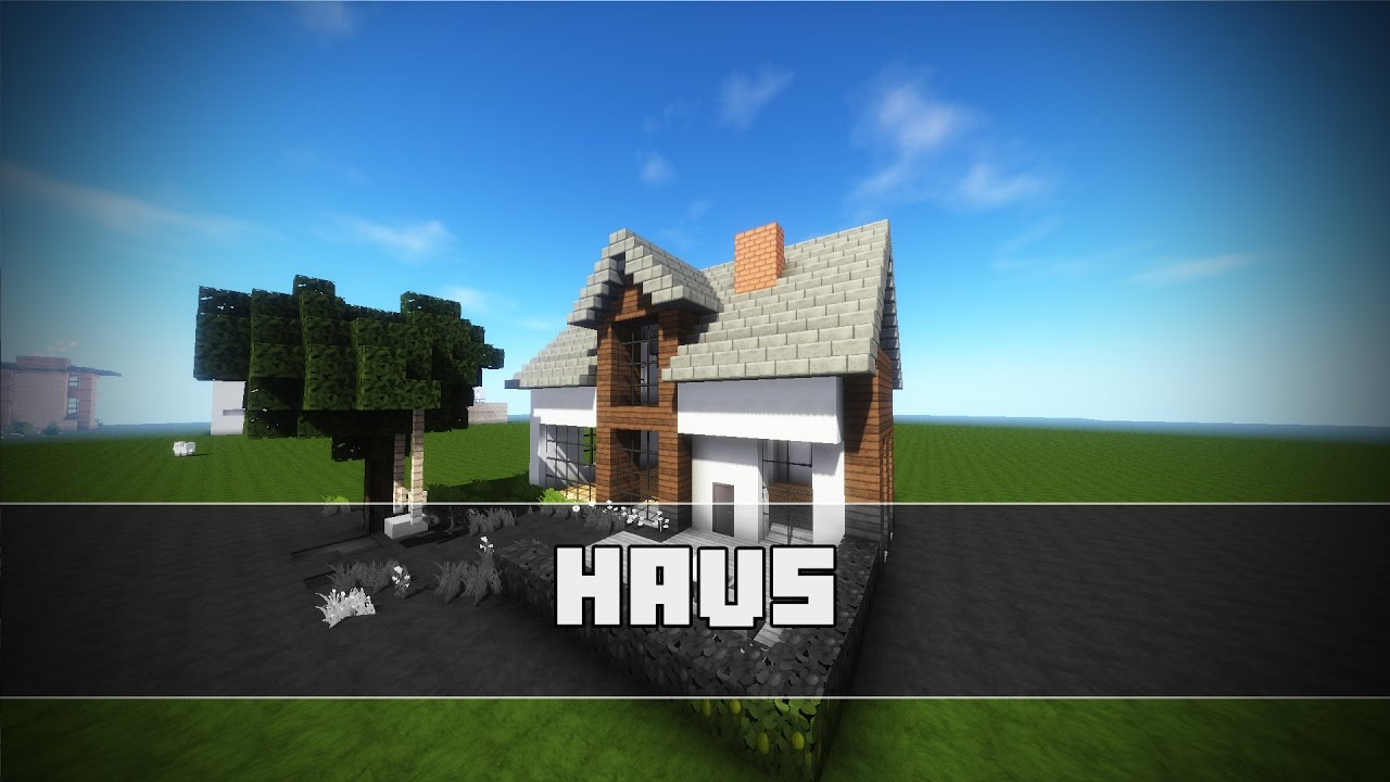 minecraft haus bauen einfamilienhaus minecraft. Black Bedroom Furniture Sets. Home Design Ideas