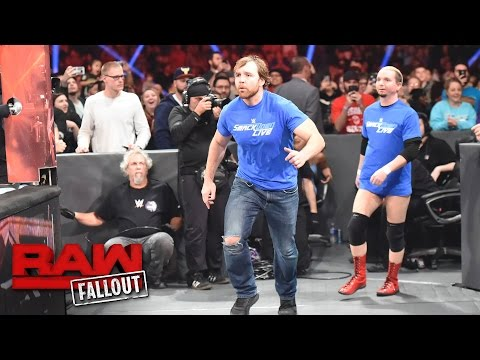 SmackDown LIVE's Dean Ambrose and James Ellsworth invade Raw: Raw Fallout, Nov. 14, 2016