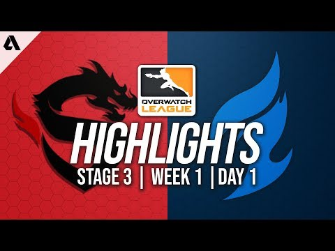 Shanghai Dragons vs Dallas Fuel | Overwatch League Highlights OWL Stage 3 Week 1 Day 1