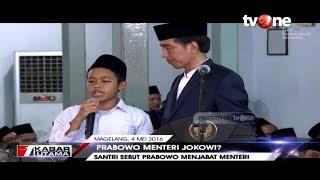 Viral!! Video Santri 'Ramal' Prabowo Jadi Menteri Jokowi
