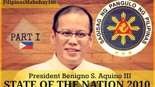 SONA 2010 | First State of the Nation Address of President Benigno Aquino III - July 26, 2010 (1/5)