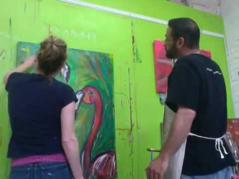Flamingo Painting Part 4