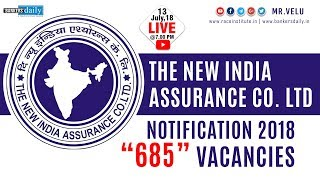 NIACL Assistant 2018 Recruitment | Notification | 685 Vacancies | Mr.Velumani